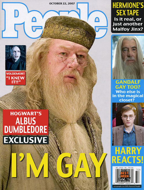 People Magazine Dumbedore Is Gay Issue