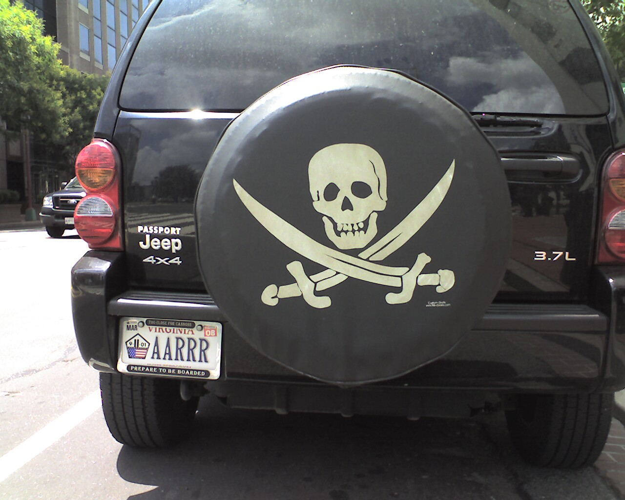 Pirate License Plate