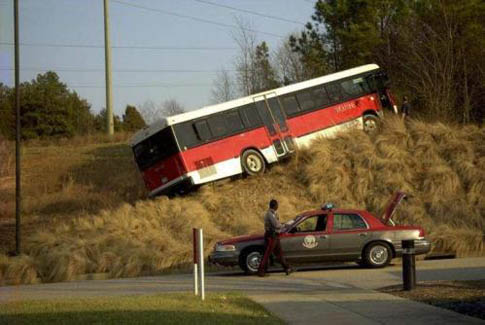 Bus on a Hill