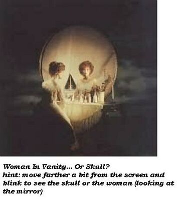 Skull or woman?