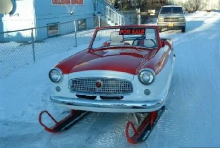 Sled and Car Fun