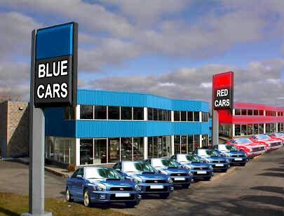 A womans car dealer